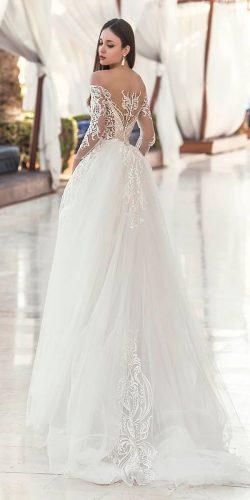 9170c5d50ec0 oksana mukha ball gown lace backless long sleeve wedding dresses 2019 filis