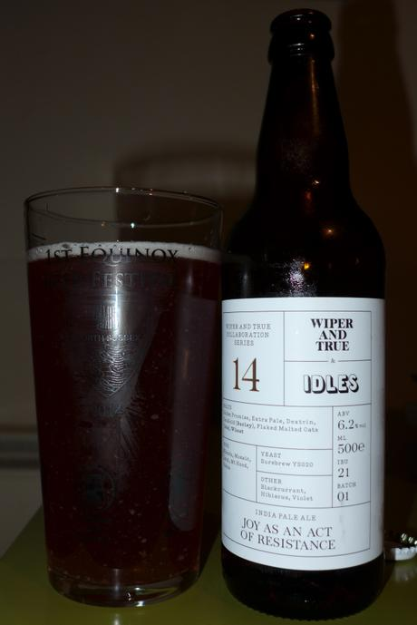 Tasting Notes:  Wiper and True: IDLES: Joy As An Act Of Resistance IPA: Collaboration Series 14