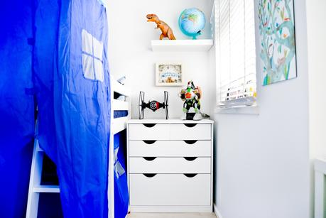 boys bedroom ideas, Finished Bedroom Makeover: Ethans Blue, White And Red Big Boy Room