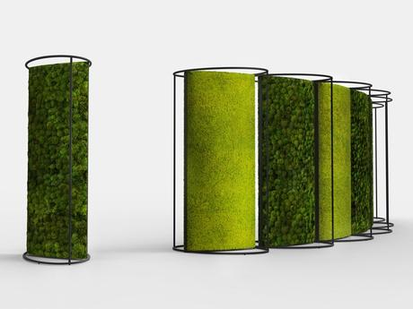 Sound absorbing free standing Stabilized plants indoor vertical garden G-DIVIDER by GREEN MOOD