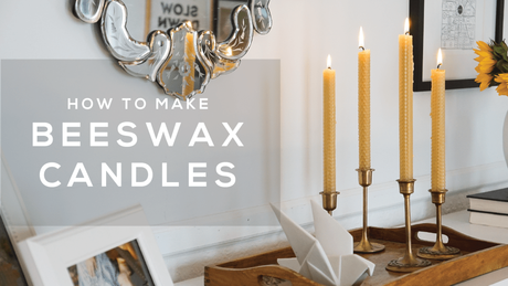 How to Make Beeswax Taper Candles Without the Mess! (Video)