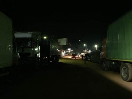 No Man's Land Uganda Rwanda border lorries