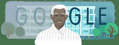 Google doodle on Dr V ~ Aravind Hospitals, Madurai