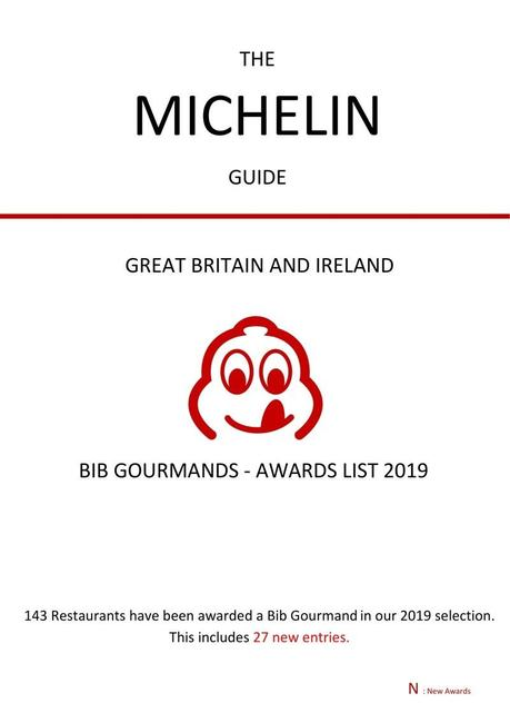 News: 2019 Michelin Bib Gourmand List Released