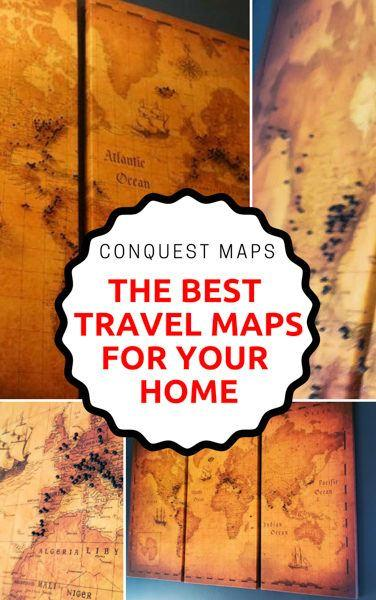Conquest Maps Review – The Most Beautiful Travel Map in the World