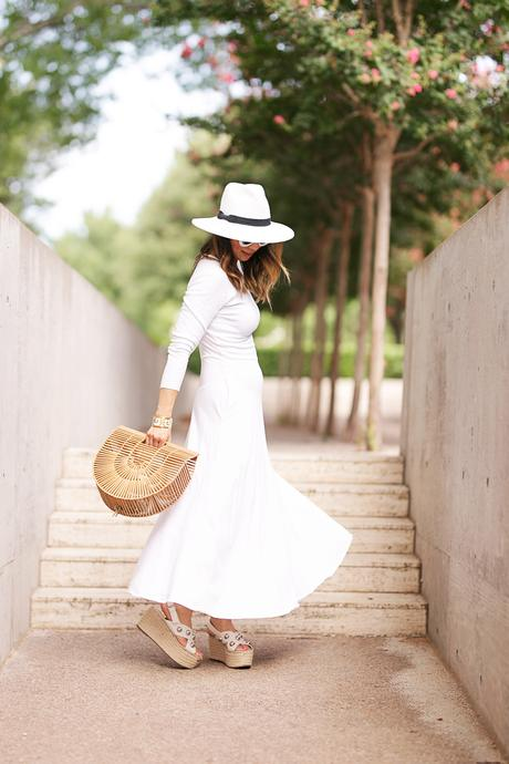 From Grandma with Love // White Midi Dress for Summer + Fall