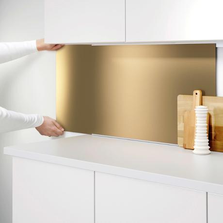 brass kitchen splashbacks