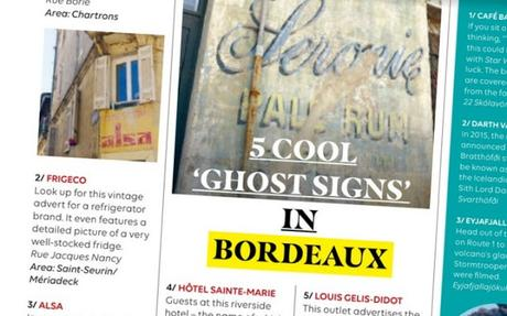 Bordeaux ghost signs featured in easyJet Traveller in-flight magazine