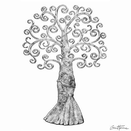 Fingerprint Tree, New creation Arbre à Empreinte, Nouvelle création www.benheine.com #tree #love #arbreaempreinte #fingerprinttree #arbre #mariage #wedding #couple #art #dessin #drawing #nature #sketch #croquis #creative