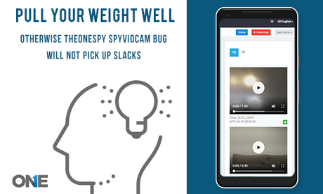 Pull your weight well Otherwise TheOneSpy SpyVidCam Bug will not pick up slacks