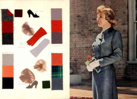 Fall Dresses in 1950 - Grey Tones