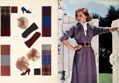 Fall Dresses in 1950 - Plum Tones
