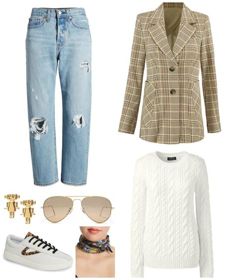 The Oxygen Edit: Styling a Glen Plaid Blazer for Fall