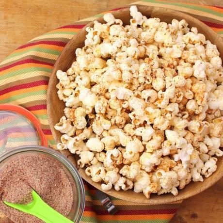 Ghost Cheddar Popcorn #HalloweenRecipes