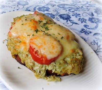 Parmesan Pesto Tuna Melt