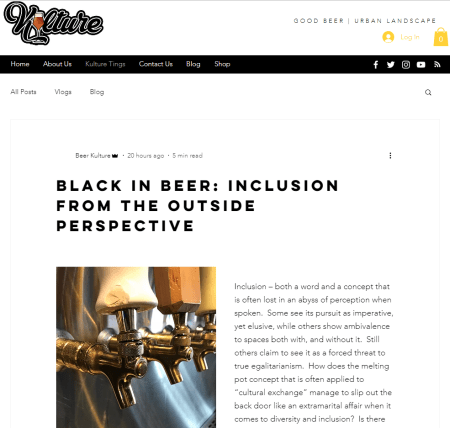 Worthy Reads – Black In Beer: Inclusion From The Outside Perspective by Toni Canada