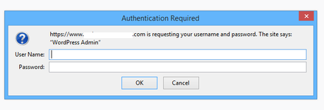 Authentication Required popup box