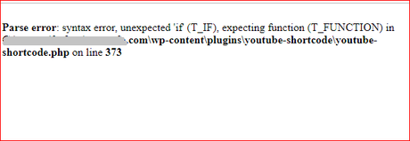 WordPress PHP Error Warning