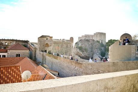walking the city walls of dubrovnik