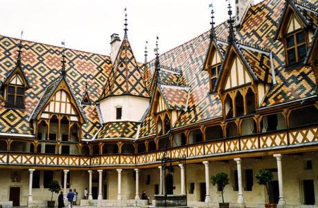 Hôtel Dieu in the Burgundy wine village of Beaune hosts the annual Hospices de Beaune wine auction each November.