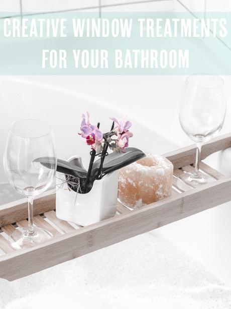 creative window treatments for your bathroom image