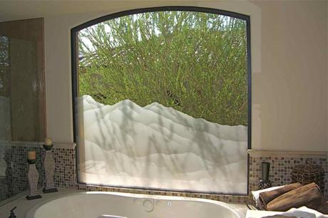 glass window custom frosted glass privacy and natural light