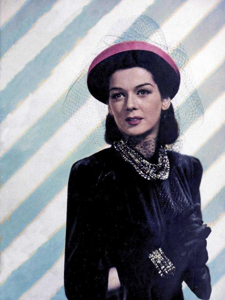 1940s-Fashion---Fall-Dresses-in-1940 - Rosalind Russell