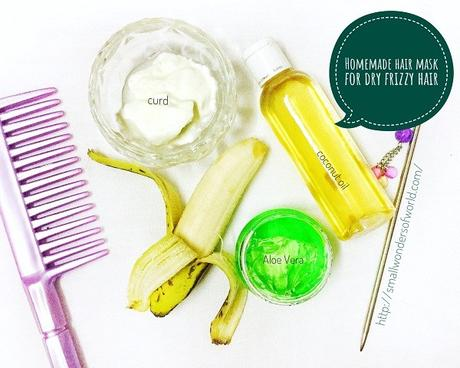 Homemade hair mask for dry frizzy hair