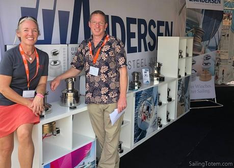 Behan and Jamie of Totem hanging out at the Andersen winches booth - Annapolis Boat Shwo
