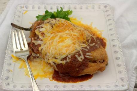 Shrimp and Cheese Chile Rellenos #FishFridayFoodies