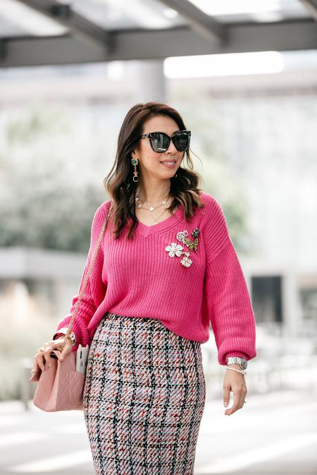 Chic at Every Age // How To Wear A V-Neck Sweater