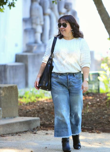 What I Wore: Cropped Wide-Leg Jeans