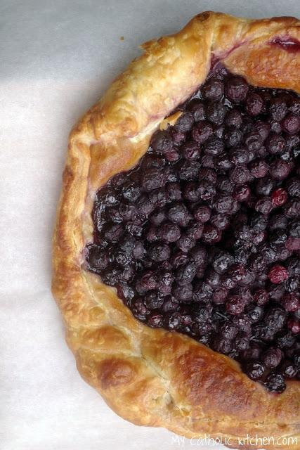 Saint Issac Jogues and a French Blueberry Tart
