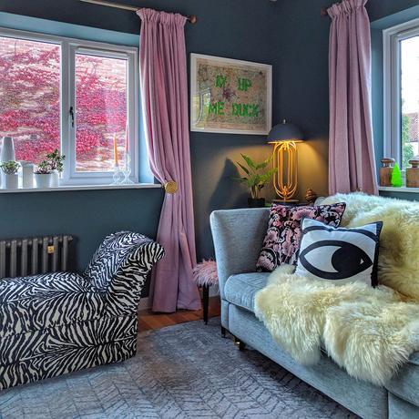 House tour- dark gray living room