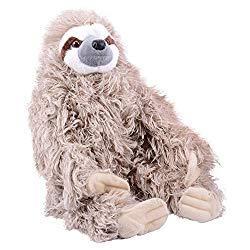 Image: Wild Republic Three-Toed Sloth Plush, Stuffed Animal, Plush Toy, Gifts for Kids, Cuddlekins 12 Inches