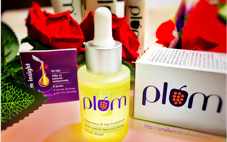 Plum grape seed & sea buckthorn glow restore face oils blend review