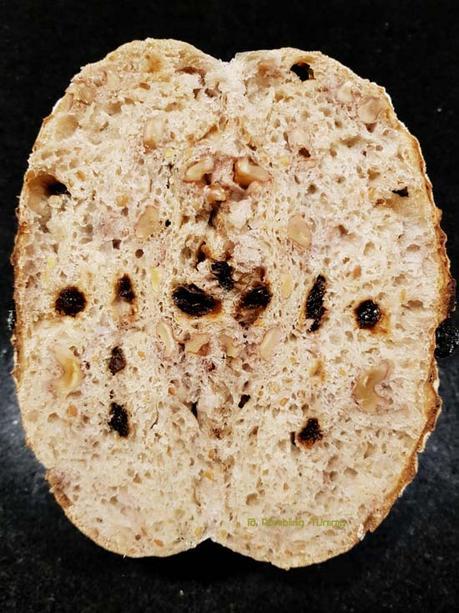 Walnut and Raisin Multigrain Sourdough bread (Same day)