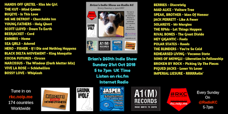 Brian's Indie Show on Radio KC - Replay from Sunday 21.10.18