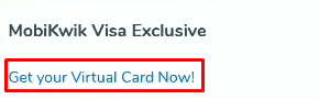 activate mobikwik visa virtual card
