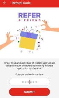 wibrate app referral code