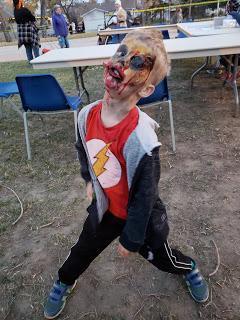 Halloween - Best dressed zombie family 2 years running
