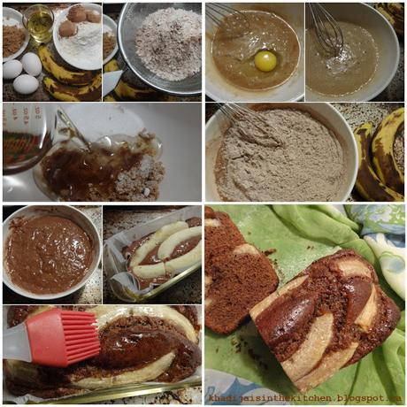 GÂTEAU AU CHOCOLAT ET À LA BANANE / CHOCOLATE BANANA BREAD / BIZCOCHO DE CHOCOLATE Y BANANA / كيك الشوكولاتة و الموز