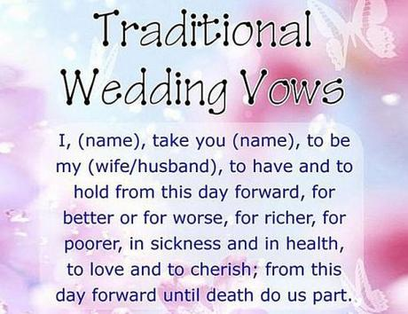 how to write wedding vows traditional vow example