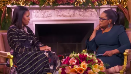 Oprah Interviewing Michelle Obama During Her Book Tour Stop In Chicago