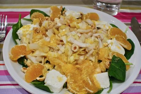 Vegetarian Mandarin Salad with mandarin dressing!!!
