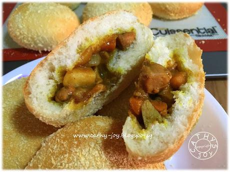 Baked Japanese Curry Buns