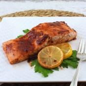 Cranberry Chipotle Glazed Baked Salmon #CranberryWeek