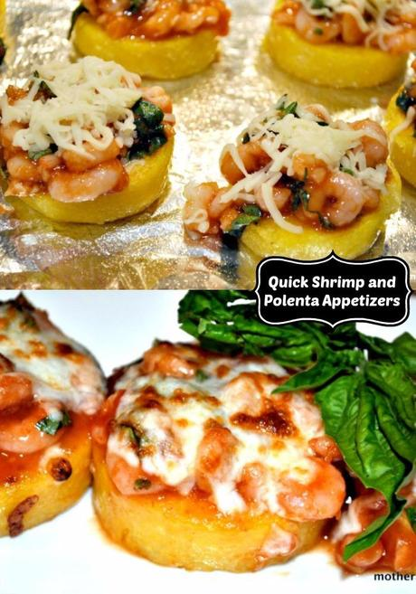 Quick Calorie-Friendly Shrimp and Polenta Appetizers
