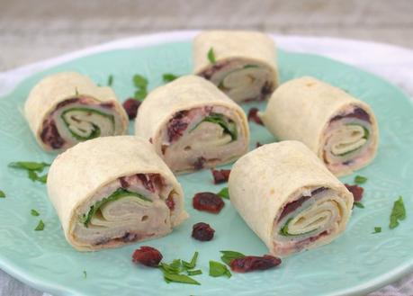 Cranberry Jalapeno Turkey Roll-Ups #CranberryWeek