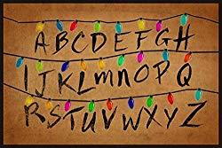 Image: 40x50 Blanket Comfort Warmth Soft Plush Throw for Couch Christmas Lights Alphabet From Stranger Things